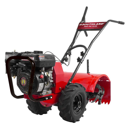 Southland SRTT196E Rear Tine Tiller with 196cc 4 Cycle 9.6 foot-pound OHV Engine