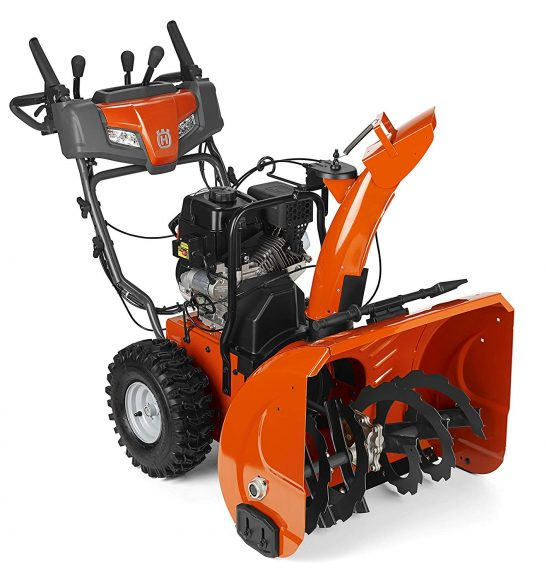 Roll over image to zoom in Husqvarna ST224P, 24 in. 208cc Two-Stage Gas Snow Blower with Power Steering and Electric Start