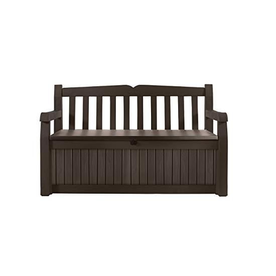 Keter 213126 Eden 70 Gallon All Weather Outdoor Patio Storage Garden Bench Deck Box Image