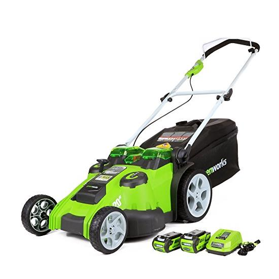 Greenworks 20-Inch 40V Twin Force Cordless Lawn Mower Image