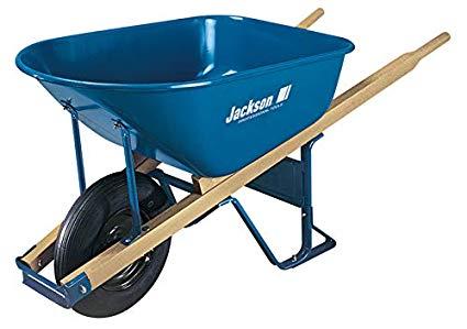 Best Wheelbarrow Reviews:Jackson M6T22 Steel Tray Contractor Wheelbarrow With Front Braces