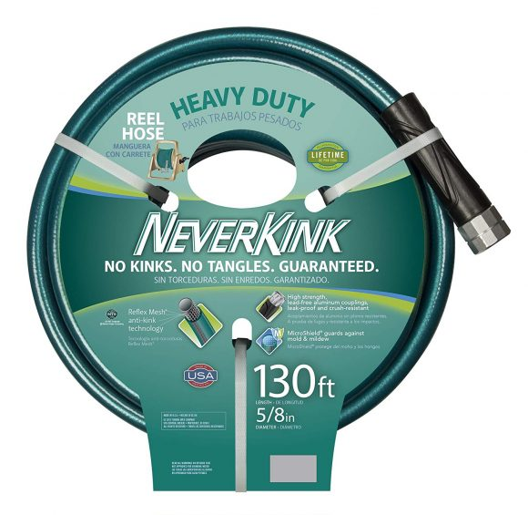 Teknor Apex 100519523 Neverkink 8615-130, Heavy Duty Hose Reel Garden Hose, 5/8-Inch by 130-Feet
