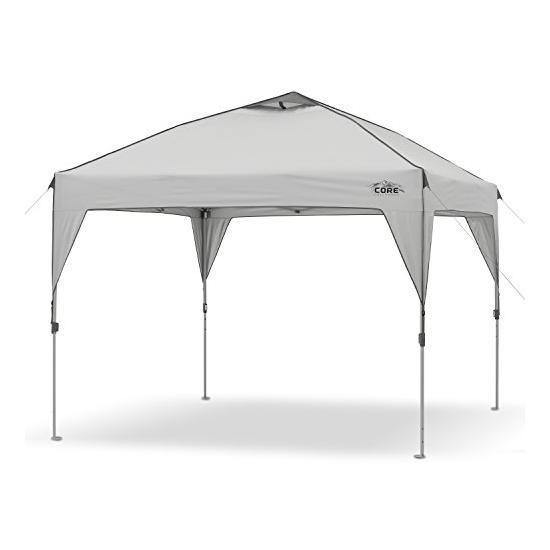 CORE 10′ x 10′ Instant Shelter Pop-Up Canopy Tent with Wheeled Carry Bag Image
