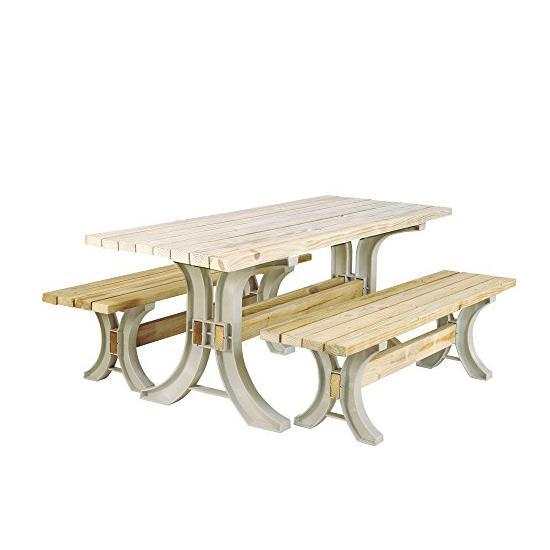 2x4basics 90182ONLMI Custom Picnic Table Kit Image