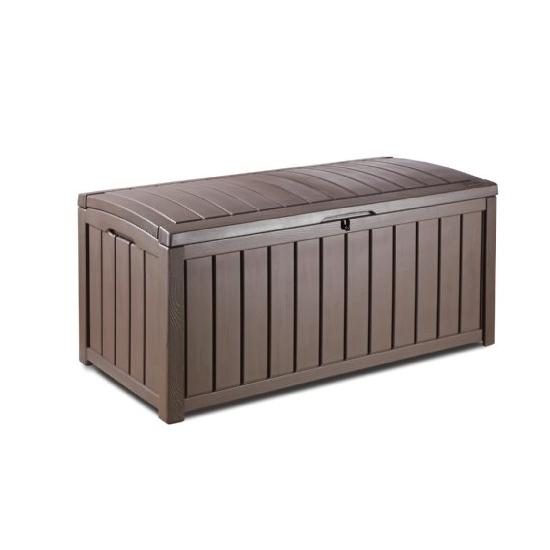 Keter Glenwood Plastic Deck Storage Container Box Outdoor Patio Furniture 101 Gal Image