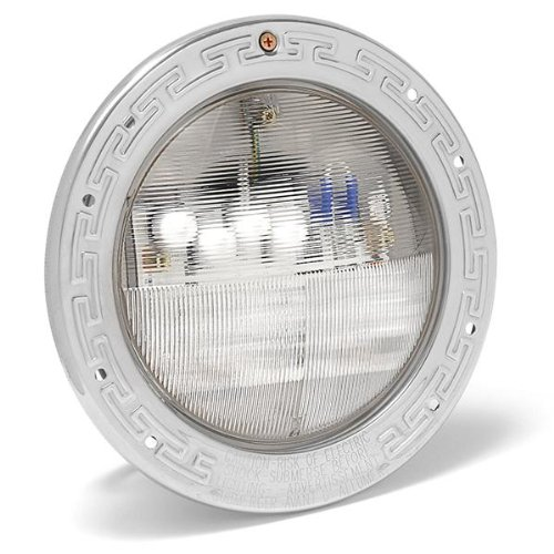 Pentair 601000 is an automated color-changing spa and pool light that features an LED technology. It is more energy efficient and quite durable when compared to other pool lights on the market today.  The bulb light combines 5 individual colored LEDs to provide a beautiful spectrum of hues. Combine this feature with a custom reflector and you get a unique lens design that is pretty efficient.  You can easily rotate its lens to 180 degrees to enjoy a wide beam pattern or reverse it to get a narrow one.