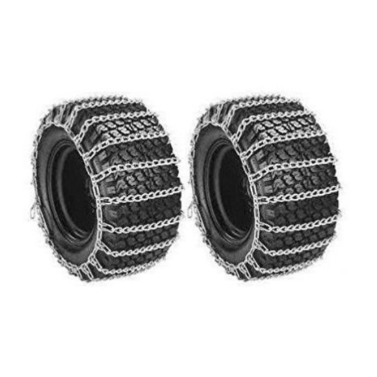 Welironly Pair 2 Link TIRE Chains for Garden Tractors
