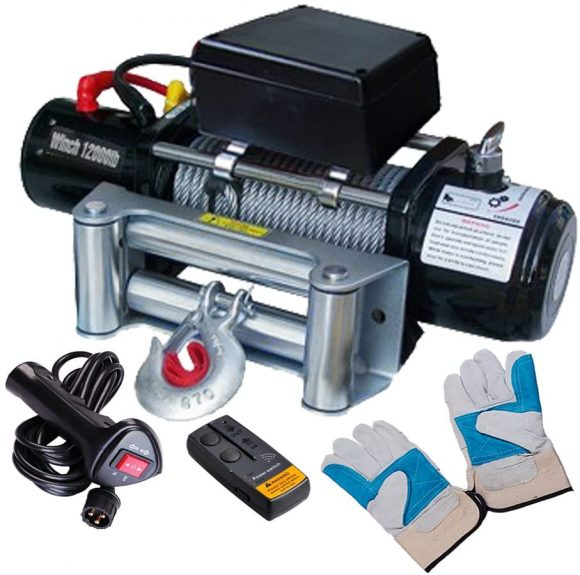 Yescom 12000lbs 12V 6.6HP Electric Recovery Winch