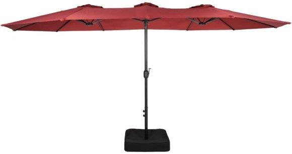 Iwicker Double-Sided Patio Umbrella
