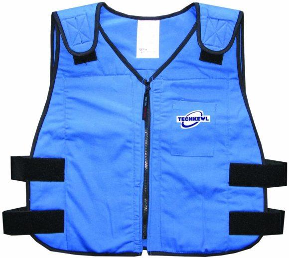 TechKewl 6626-RB-L/XL Phase Change Cooling Vest, Blue
