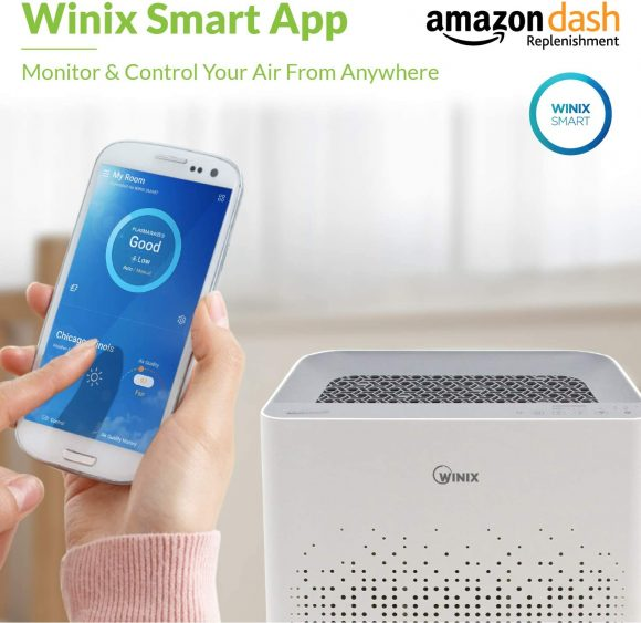 WINIX AM90 Wi-Fi Air Purifier, 360 sq ft Room Capacity