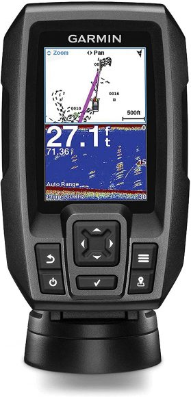 """Garmin Striker 4 with Transducer, 3.5"""" GPS Fishfinder with CHIRP Traditional Transducer"""