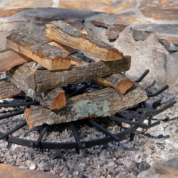 SteelFreak Wagon Wheel Firewood Grate