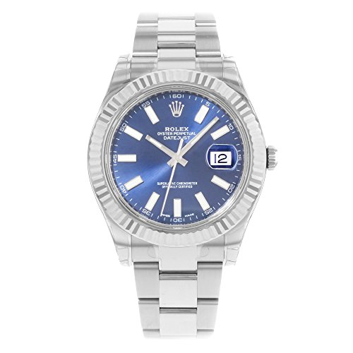Rolex Datejust II Stainless Steel and 18K White Gold Blue Dial