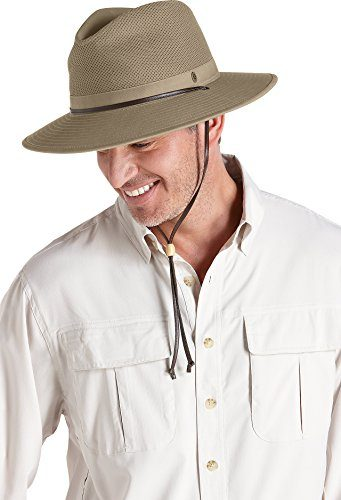 Coolibar UPF 50+ Men's Crushable Ventilated Adventure Sun Hat