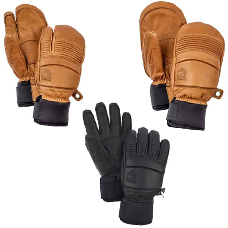 Hestra Leather Fall Line - Short Freeride Snow Mitten with Superior Grip for Skiing and Mountaineering