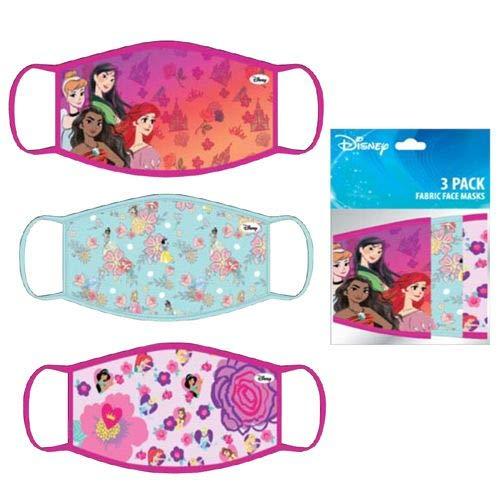 Disney Princess Kids Cloth Reusable Face Masks (3 Pack)